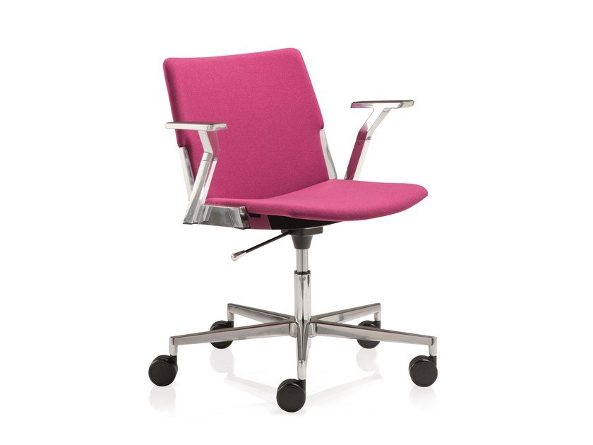 Swivel task chair with 5-Spoke base with armrests CAVEA | Task chair with 5-Spoke base by Emmegi