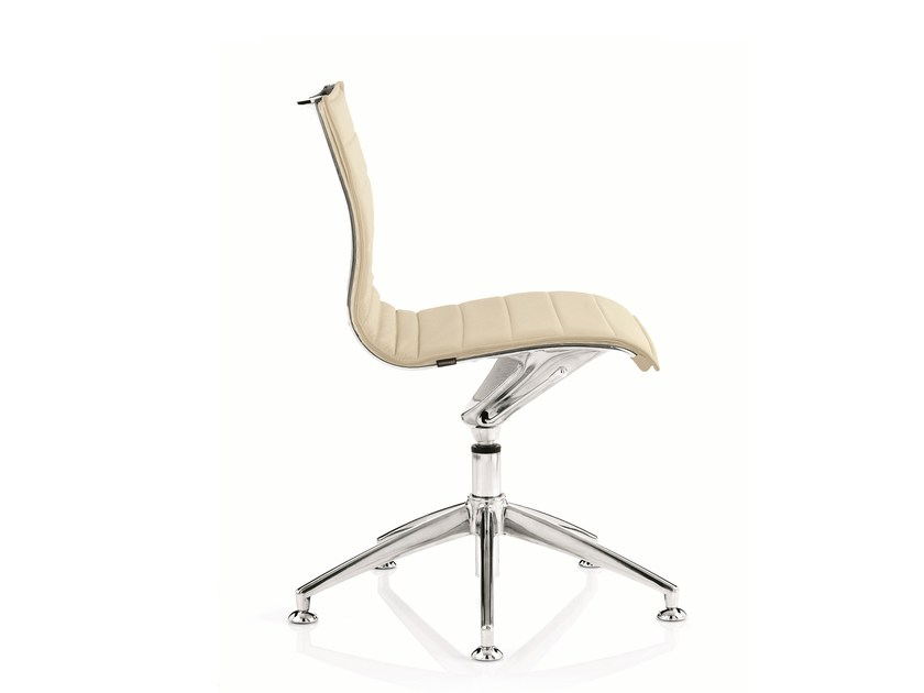 Swivel leather task chair with 5-Spoke base EM202 BASIC | Task chair with 5-Spoke base - Emmegi