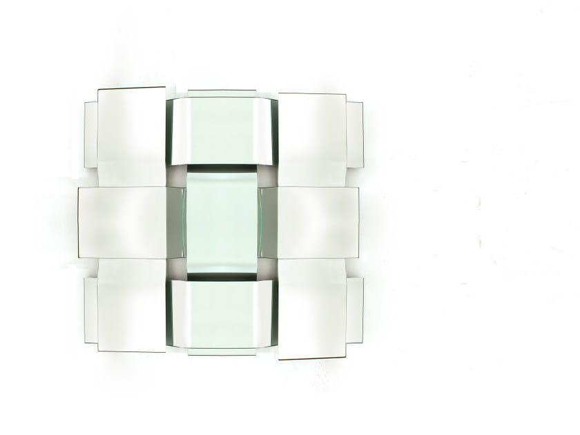 Square wall-mounted mirror TRAMA by Tonin Casa