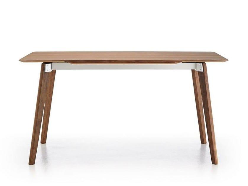 Extending rectangular walnut table TRANSALPINA | Walnut table by Punt