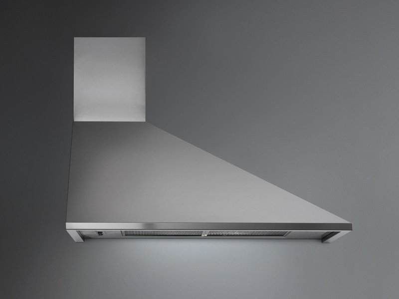 Wall-mounted stainless steel cooker hood TRAPEZIO - Falmec