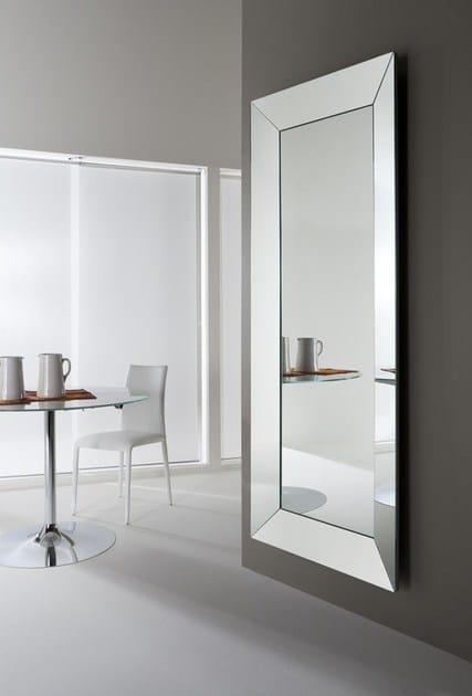 Specchio rettangolare a parete con cornice trapezio specchio rettangolare riflessi - Lastre di specchio ...