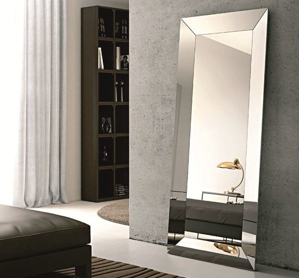 Rectangular framed mirror TRAPEZIO | Freestanding mirror - RIFLESSI