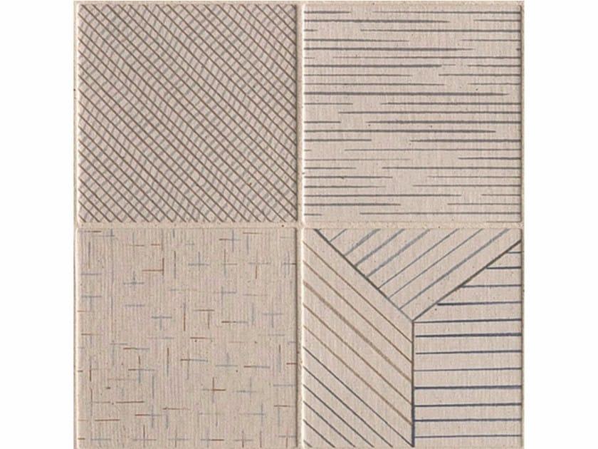 Porcelain stoneware wall/floor tiles TRATTI MIX CHIARO - MUTINA