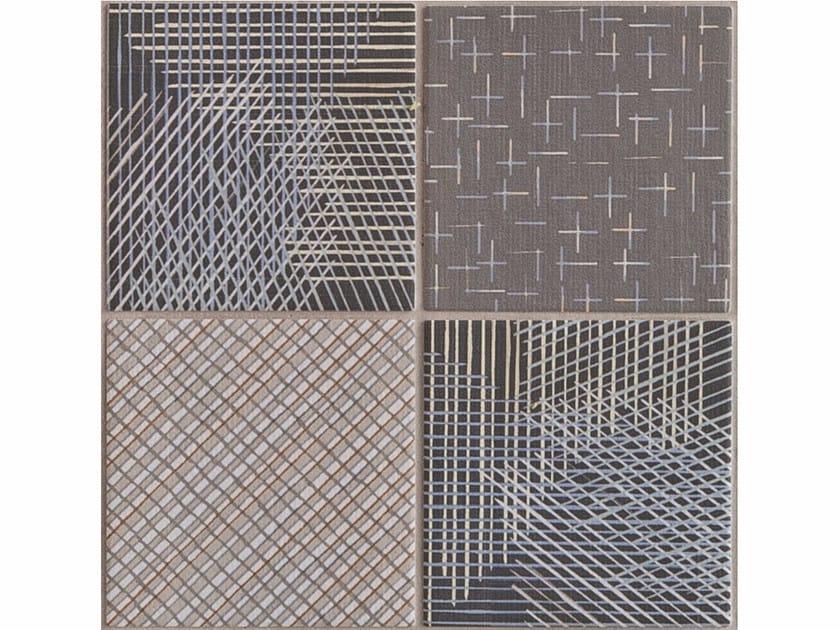 Porcelain stoneware wall/floor tiles TRATTI MIX SCURO - MUTINA