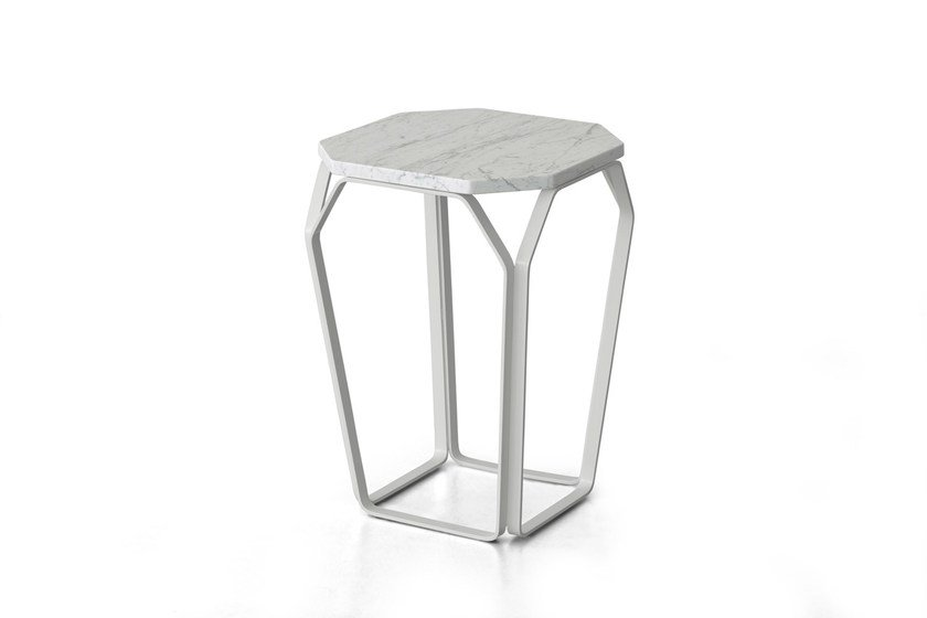 Carrara marble side table TRAY 1 | Carrara marble coffee table - MEME DESIGN