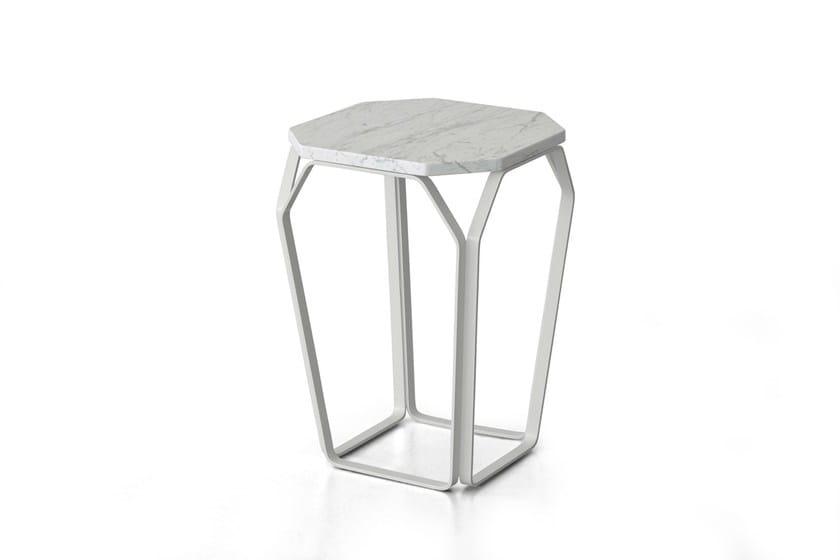 Carrara marble side table TRAY 1 | Carrara marble coffee table by meme design