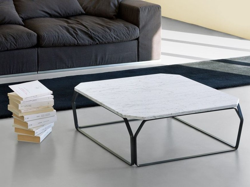 Low Carrara marble coffee table TRAY 2 | Carrara marble coffee table by meme design