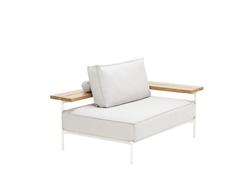Corner upholstered garden armchair TRAY | Garden armchair - Gloster