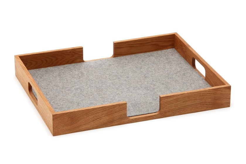 Rectangular wooden tray Tray by HEY-SIGN