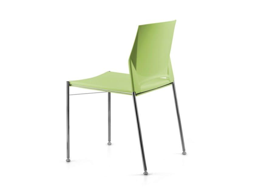 Stackable polypropylene chair TREK 035 - TALIN