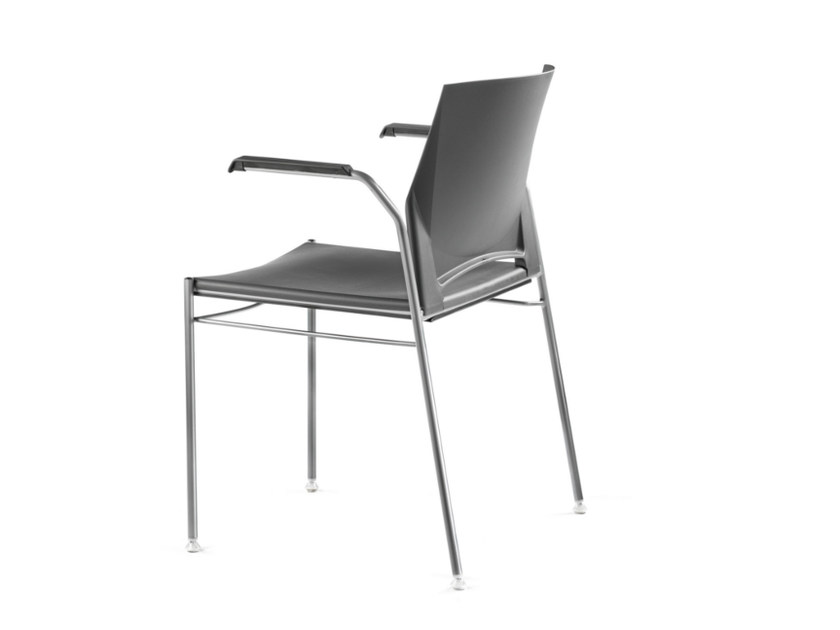 Stackable polypropylene chair with armrests TREK 036 - TALIN