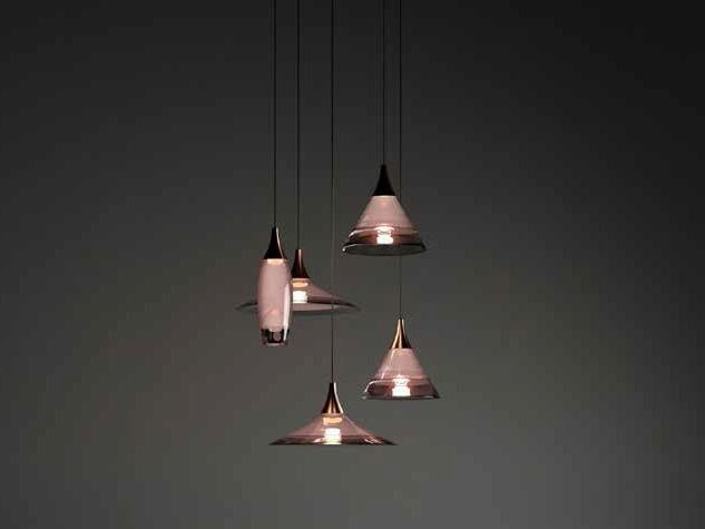 LED Murano glass pendant lamp TRESOR by Paolo Castelli