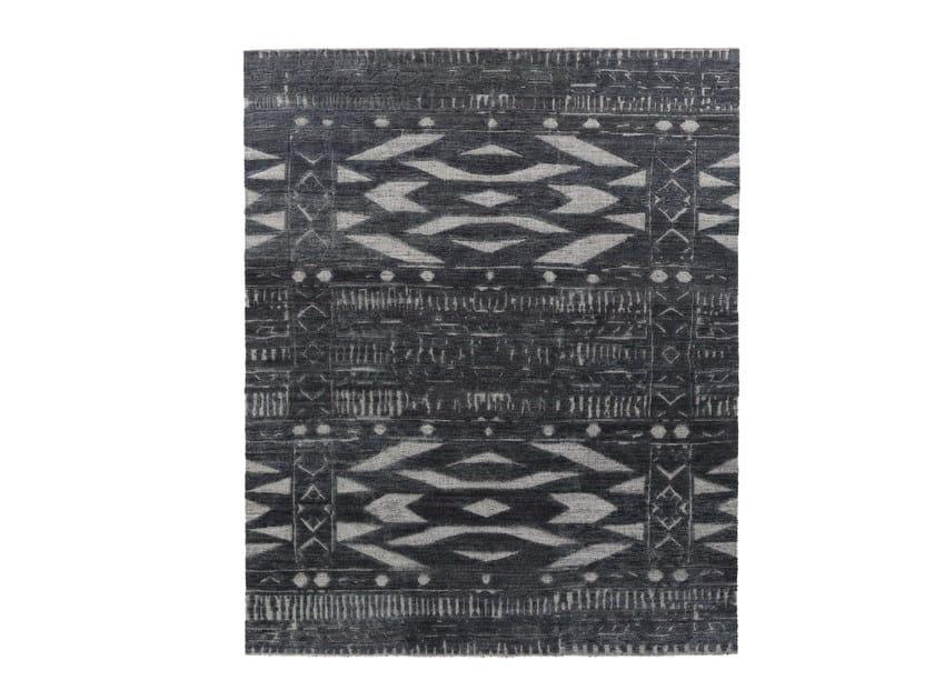 Patterned handmade wool rug TRIBAL by miinu