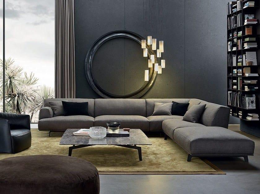 Corner sectional fabric sofa TRIBECA | Corner sofa - Poliform