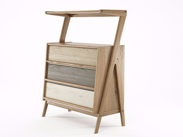 Free standing oak chest of drawers TRIBUTE | Oak chest of drawers - KARPENTER