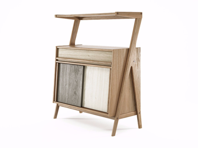 Oak sideboard with sliding doors TRIBUTE | Oak sideboard - KARPENTER