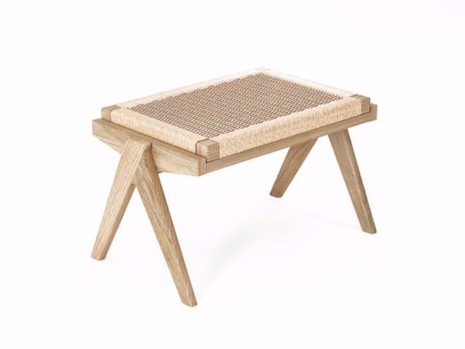Rope and oak stool TRIBUTE TB14-O - KARPENTER