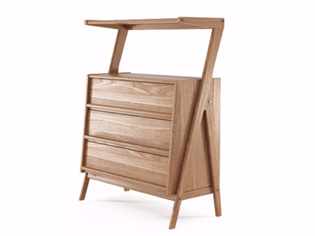 Free standing teak chest of drawers TRIBUTE | Teak chest of drawers by KARPENTER