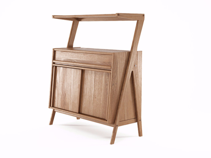 Teak sideboard with sliding doors TRIBUTE | Teak sideboard - KARPENTER