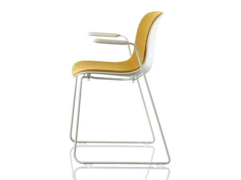 Sled base stackable fabric chair TROY   Stackable chair - Magis