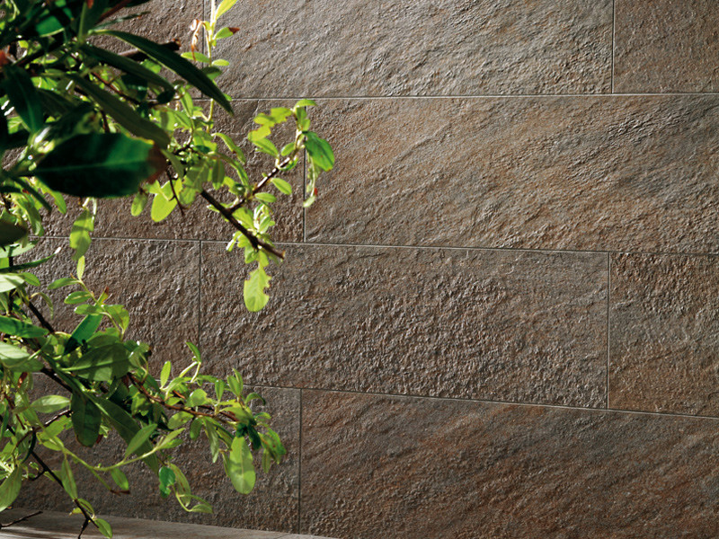 Outdoor porcelain stoneware wall tiles with stone effect TRUST | Outdoor wall tiles by Atlas Concorde
