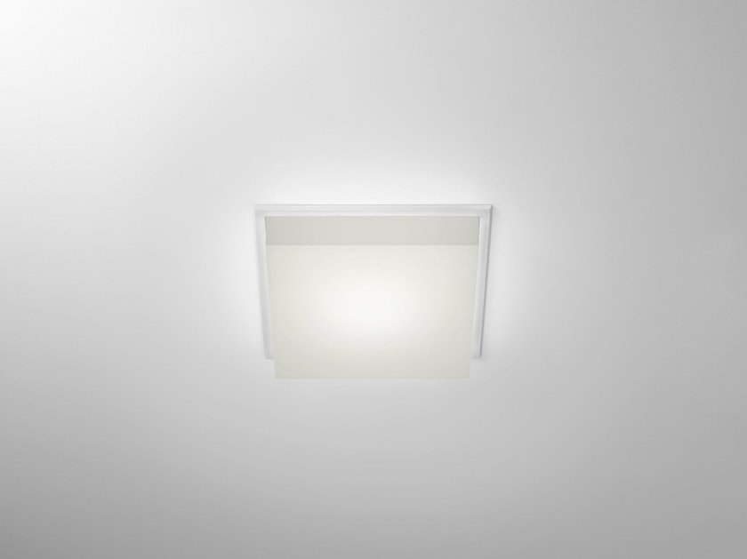 LED square recessed polycarbonate spotlight TRYBECA 38 SQUARE WITH BEZEL by Reggiani
