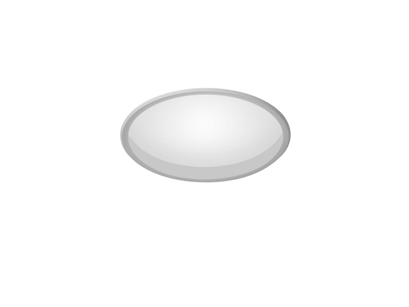 LED round recessed polycarbonate spotlight TRYBECA 75 ROUND WITH BEZEL by Reggiani