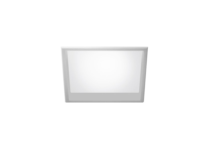LED square recessed polycarbonate spotlight TRYBECA 75 SQUARE WITH BEZEL by Reggiani
