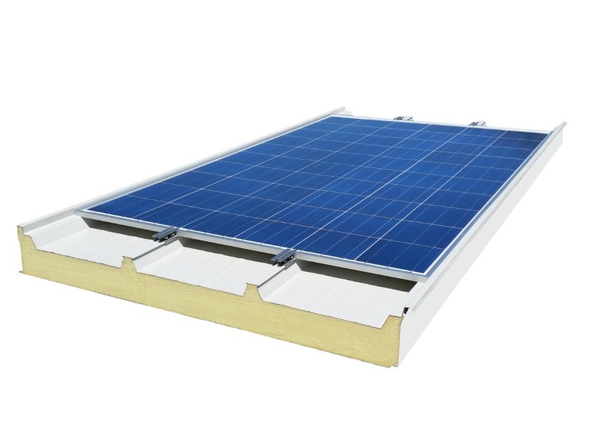 Insulated metal panel for roof / Photovoltaic module TSE CLIMA SYSTEM - V-energy Green Solutions