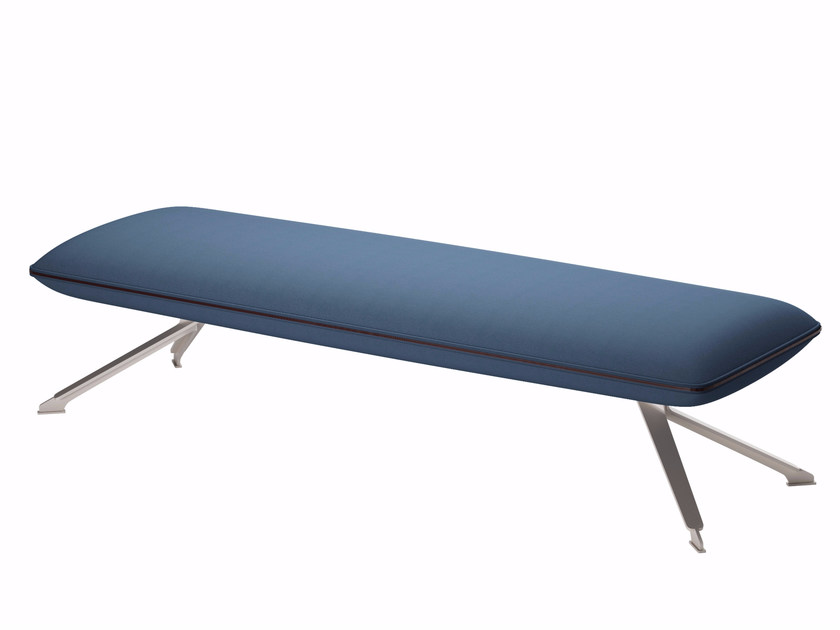 Upholstered fabric bench TT3 FLAT SOFT - 608 - Alias
