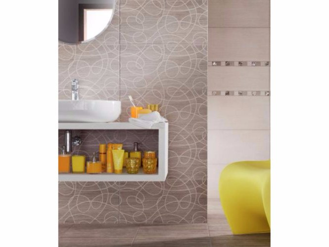 Indoor wall tiles with wood effect TUBADZIN BILOBA | Wall tiles - TUBADZIN
