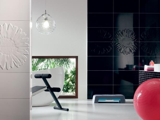 Indoor wall tiles TUBADZIN COLOUR WHITE&BLACK - TUBADZIN
