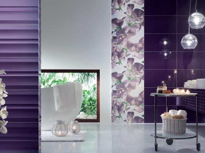 Indoor wall tiles TUBADZIN COLOUR VIOLET by tubadzin