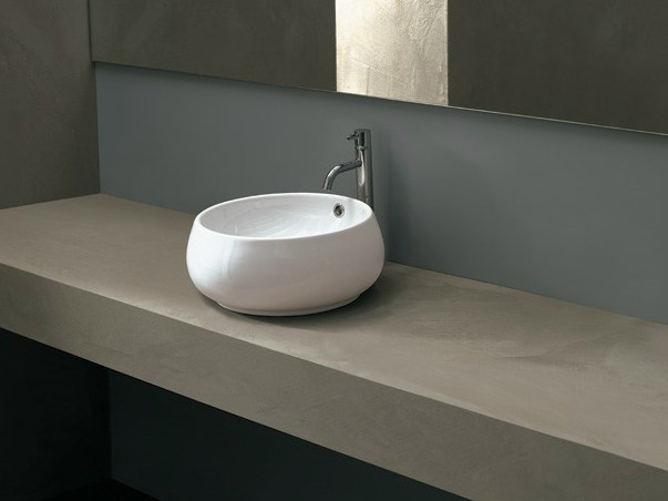 Countertop round ceramic washbasin TULIP SMALL by Alice Ceramica