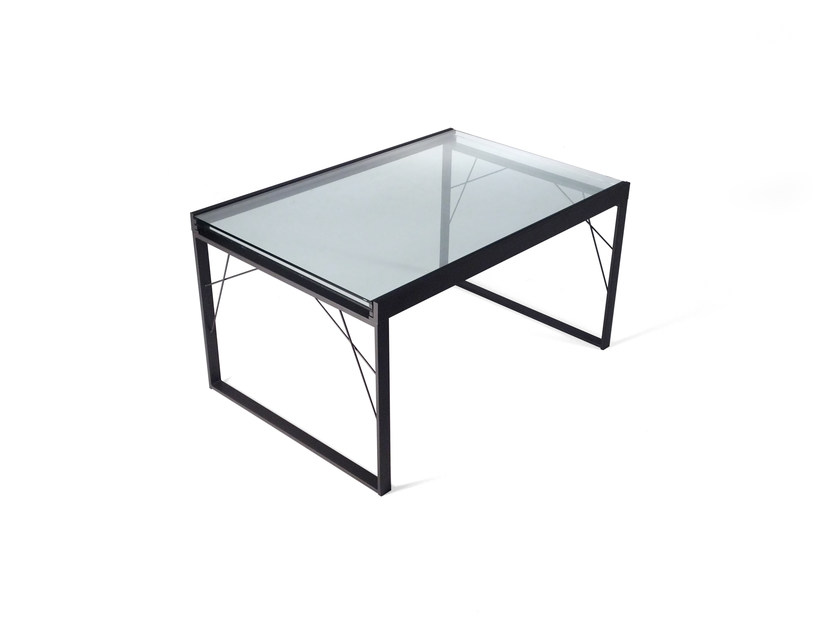 table manger rectangulaire en verre twice by roche bobois. Black Bedroom Furniture Sets. Home Design Ideas