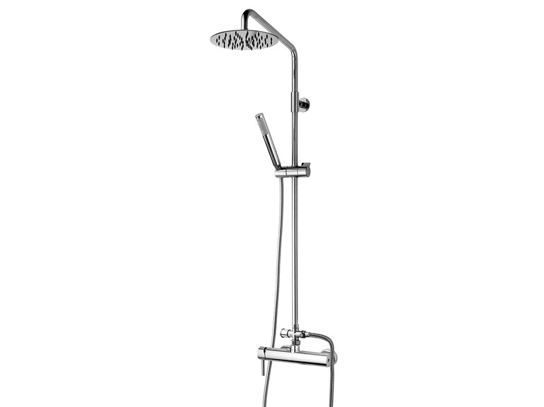 Wall-mounted shower panel with hand shower Twiggy Column - Ø 200 - Bossini