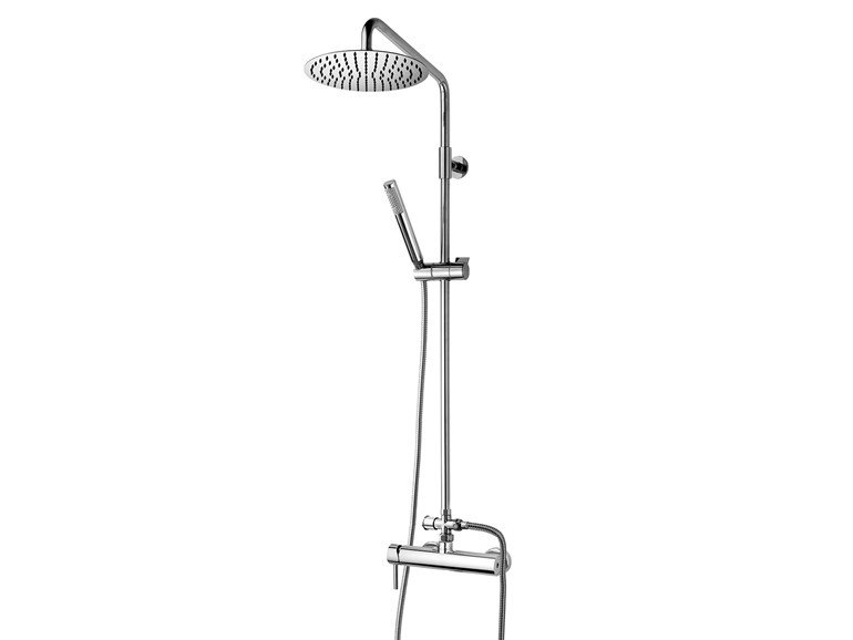 Wall-mounted shower panel with hand shower Twiggy Column - Ø 250 - Bossini