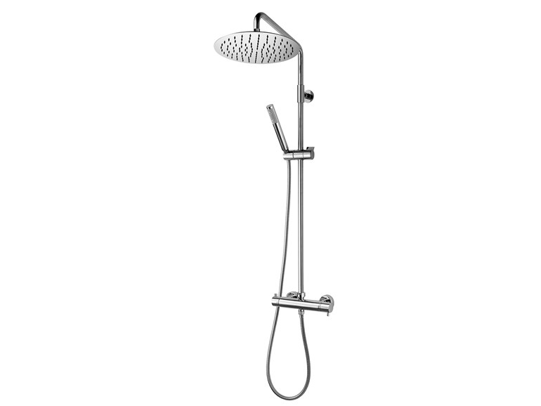 Wall-mounted thermostatic shower panel with hand shower Twiggy Column - Ø 300 - Bossini