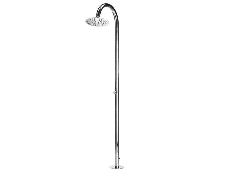 Floor standing shower panel with self-closing tap Twiggy Floor Ø 300 - Bossini