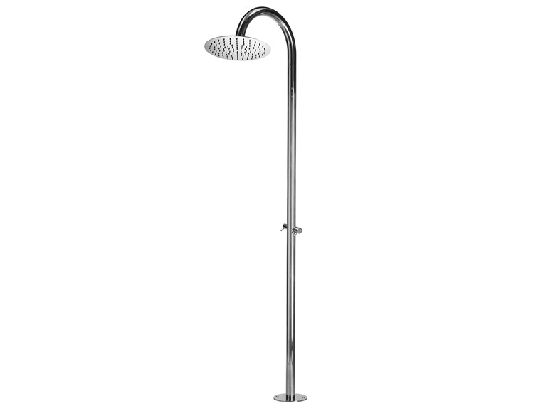 Floor standing stainless steel shower panel Twiggy Floor Ø 300 - Bossini
