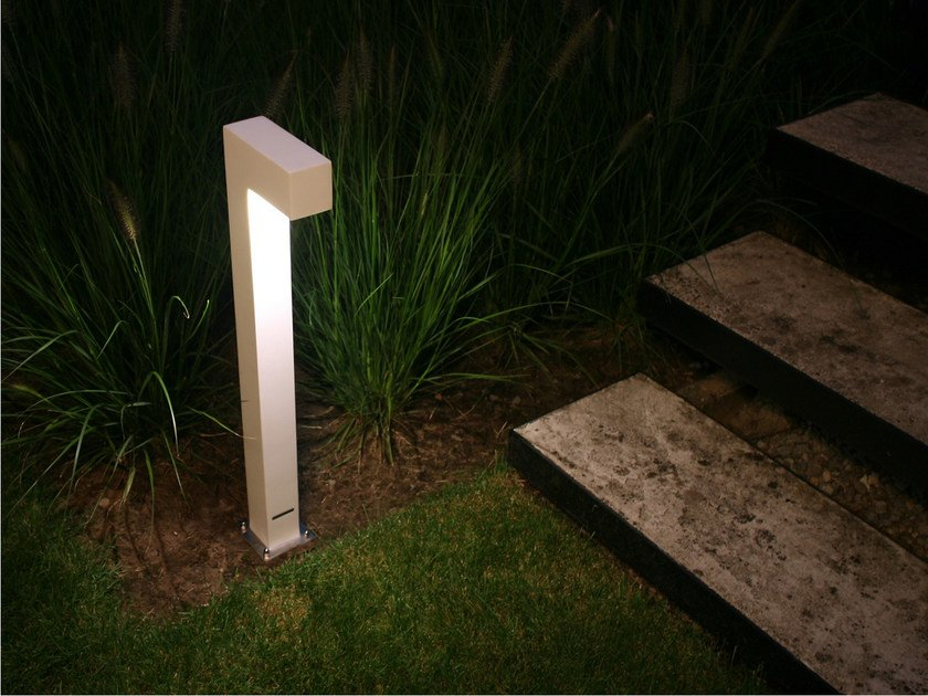 Paletto luminoso da giardino in Corian® TWIN - ROYAL BOTANIA