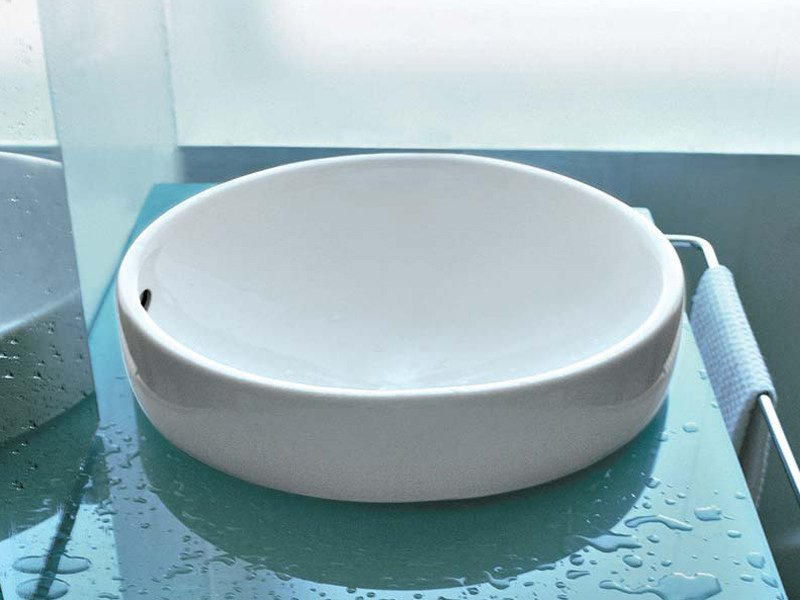 Inset ceramic washbasin TWIN SET 42 | Inset washbasin - CERAMICA FLAMINIA