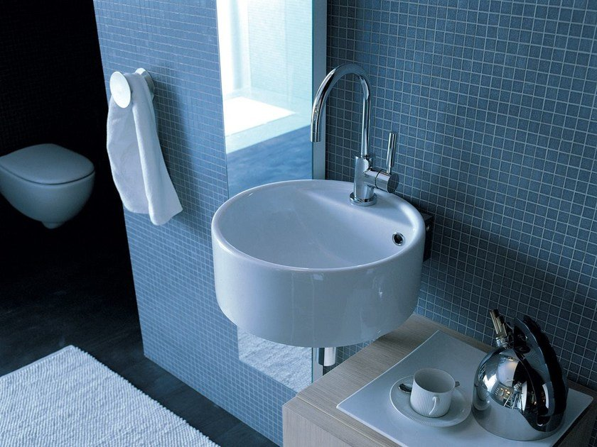 Wall-mounted ceramic washbasin TWIN SET 42 | Wall-mounted washbasin - CERAMICA FLAMINIA