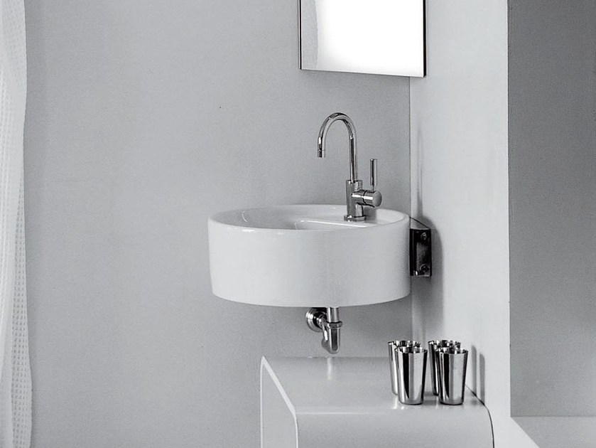 Corner ceramic washbasin TWIN SET 52 | Corner washbasin by CERAMICA FLAMINIA
