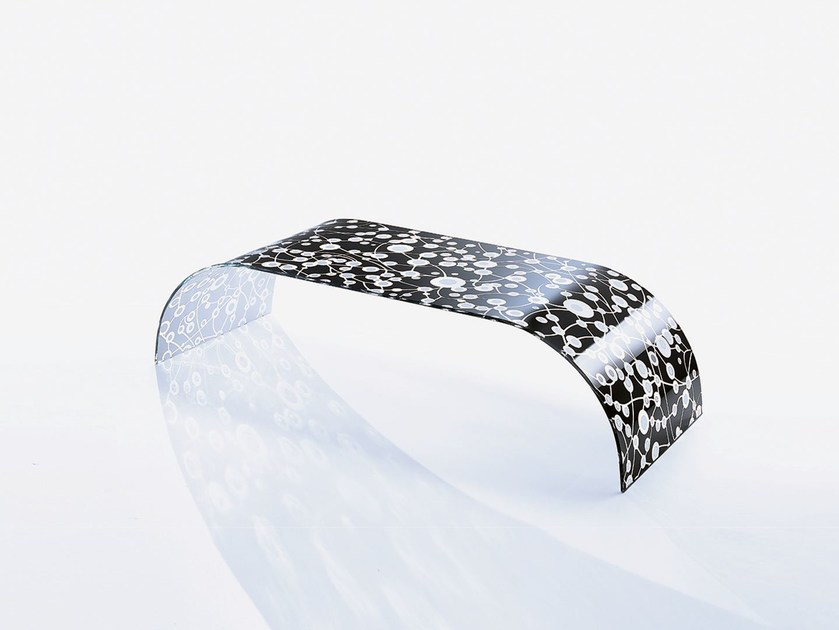 Low rectangular crystal coffee table TWIST SETT'ANTA BLACK - Casali