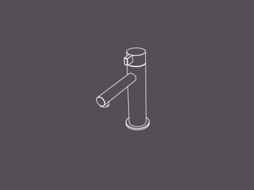 Rubinetto per lavabo da piano monocomando in acciaio inox TXQ1 | Miscelatore per lavabo - Radomonte