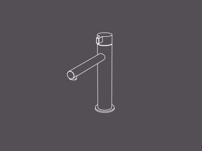 Miscelatore per lavabo da piano monocomando in acciaio inox TXQ2 | Miscelatore per lavabo - Radomonte