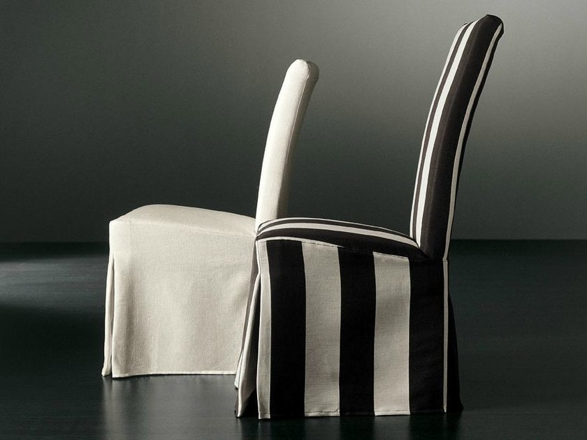 Upholstered chair with removable cover TYLOR | Chair with removable cover by Meridiani
