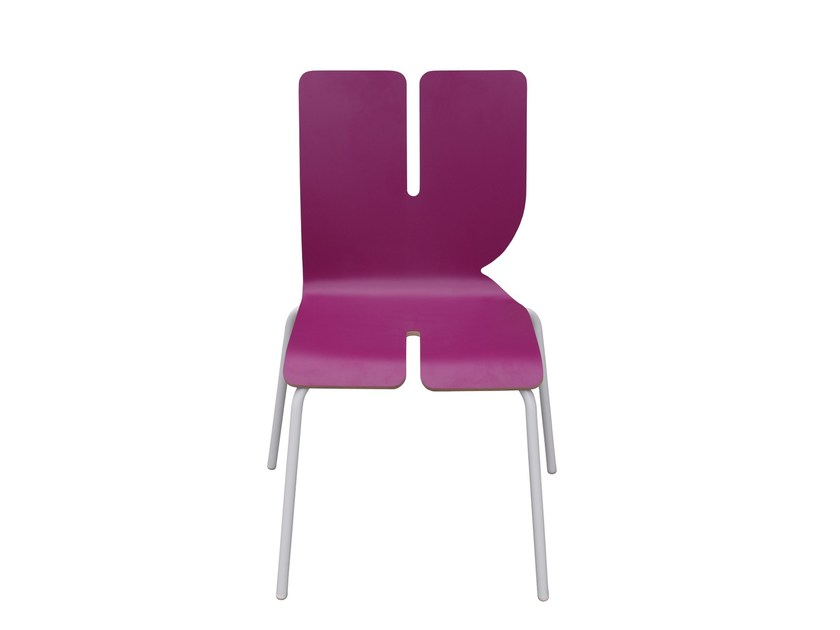 Lacquered kids chair TYPOGRAPHIA KIDS K by TABISSO